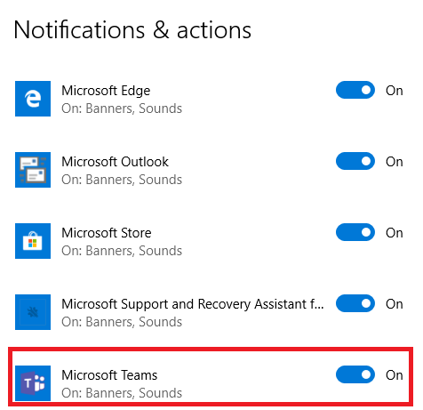 Microsoft Teams Notification - Microsoft Community