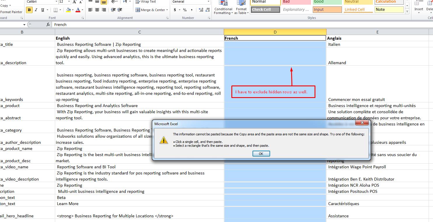 Copy paste error in Excel 10   Microsoft Community