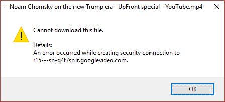 Downloads failing -