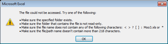 microsoft excel will not open files