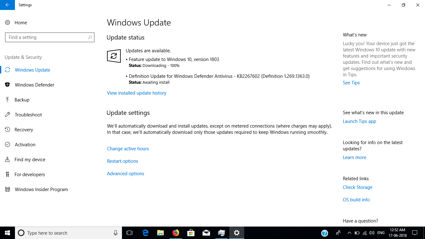 1803 windows 10 update