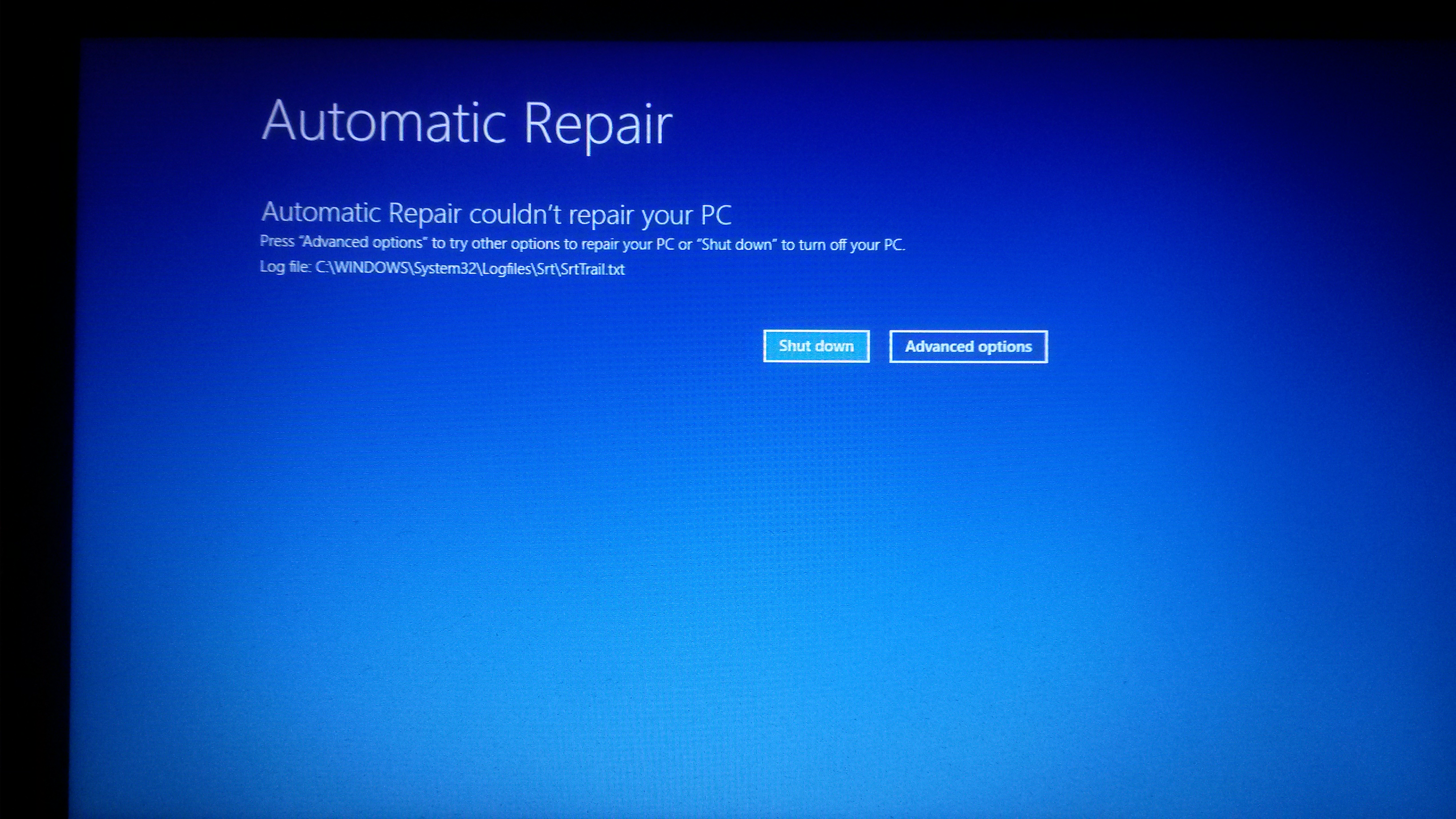 Windows 10 Bad System Config info error and Automatic