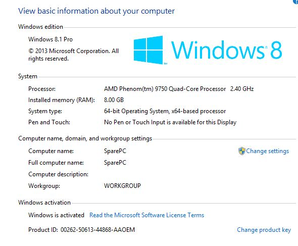 windows 8.1 product key 64bit
