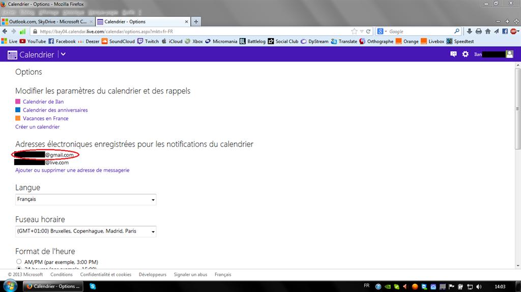 Dpstream Calendrier.Ajouter Ou Supprimer Une Adresse Email Pour Recevoir Des