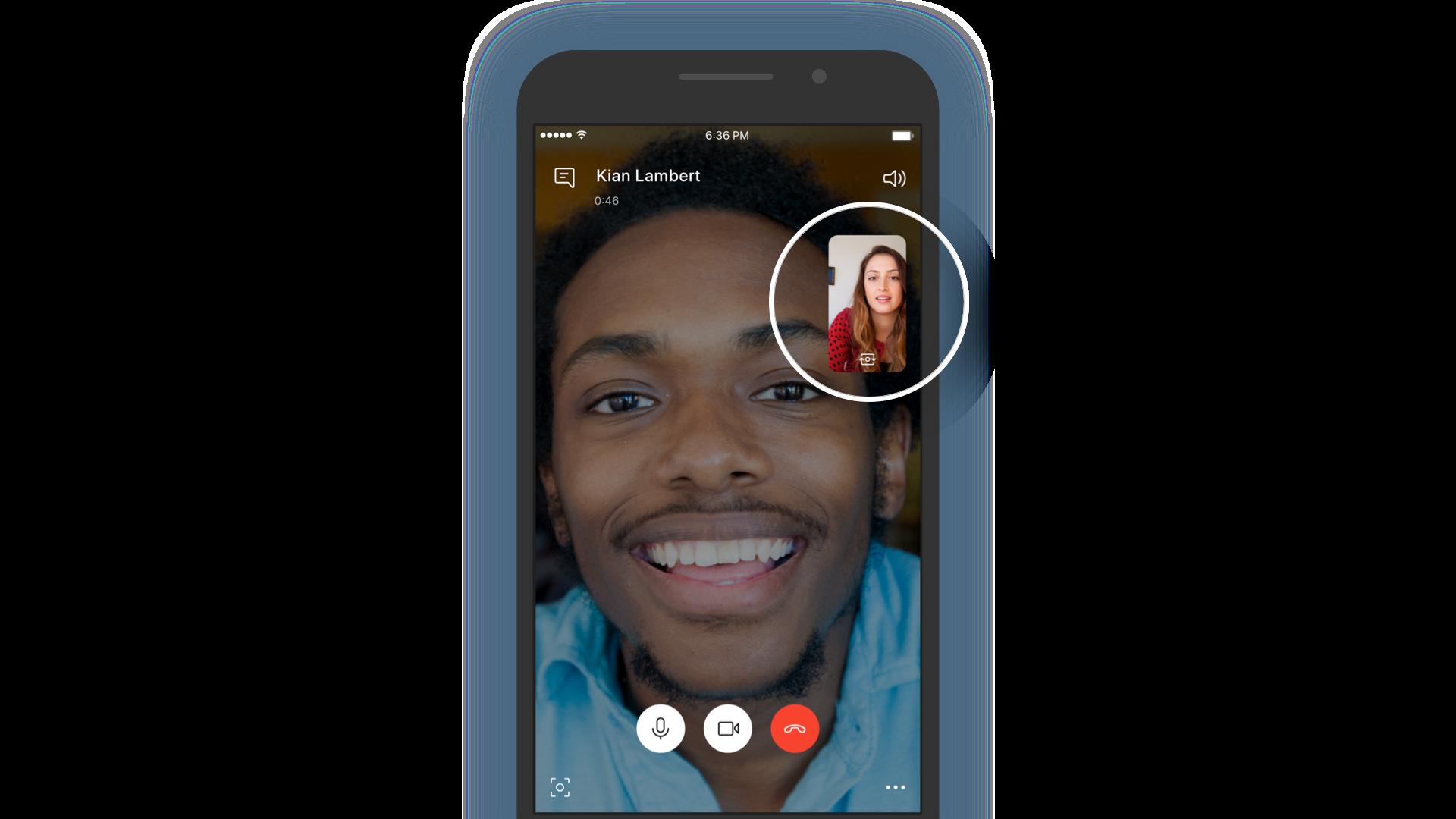 Chamada de vídeo do Skype simplifica