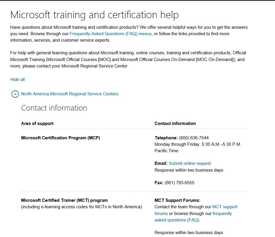 Microsoft Certified Exam Profile Legal Name Change Request