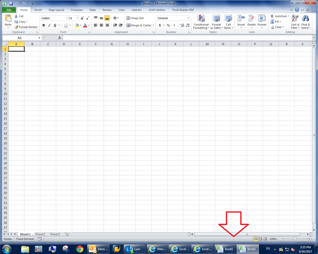 Excel 2010 does not show all open windows in taskbar - Microsoft ...