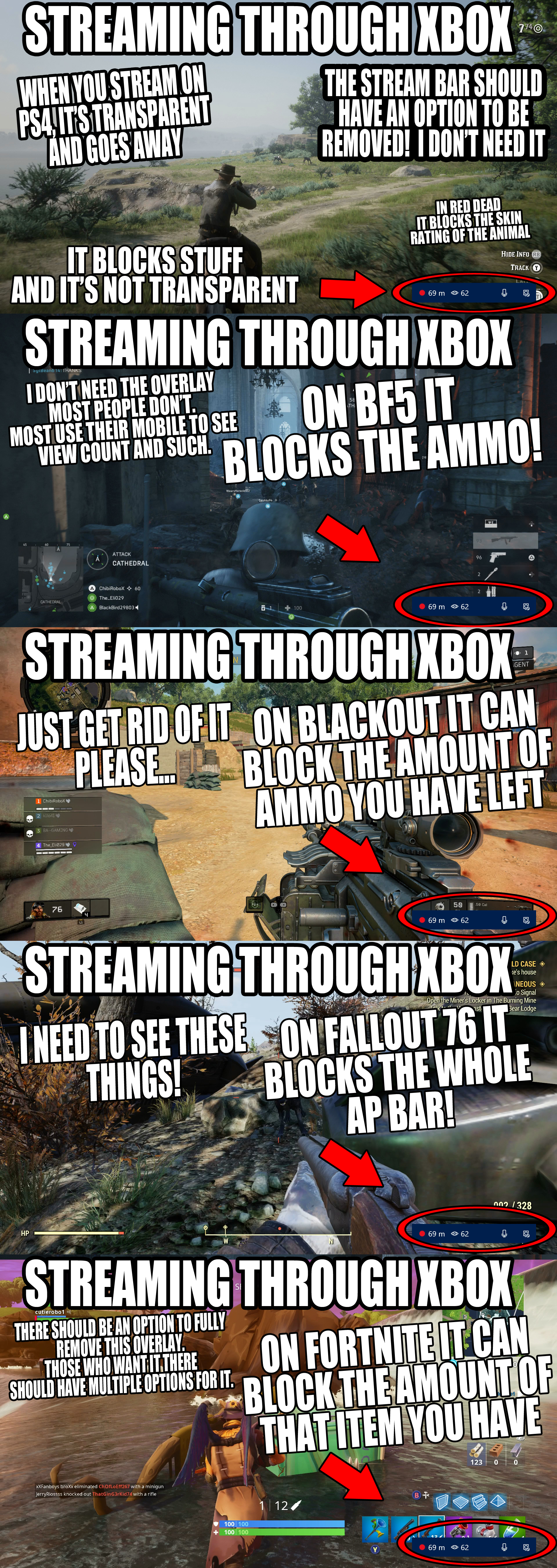 Twitch Streaming on Xbox needs an Option to REMOVE the