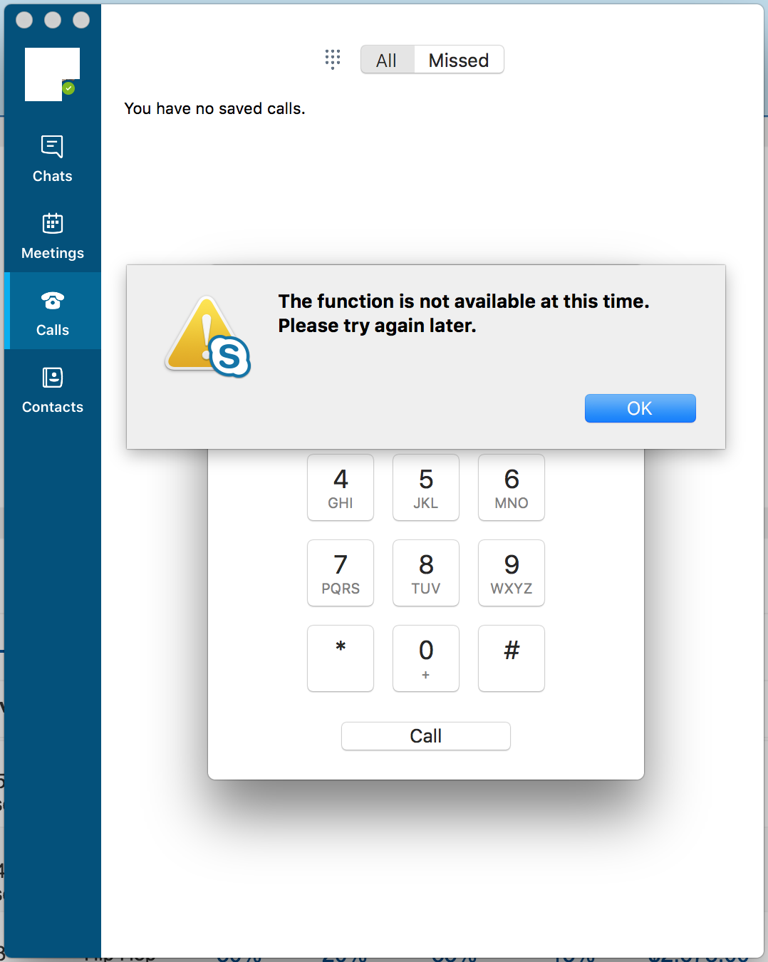 cant use video on skype mac