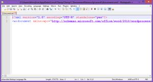 unspecified error in word 2010 word document xml microsoft