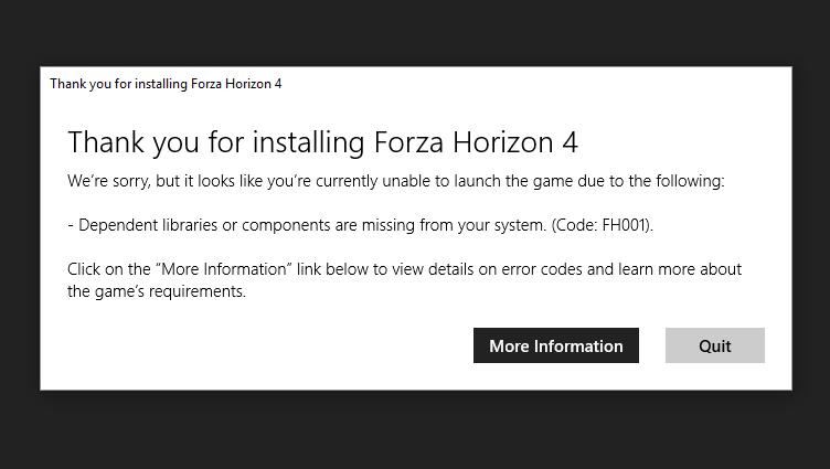 Forza Horizon 4 Launch Issue on Windows 10 - Microsoft Community