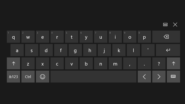 Use special character on touch screen keyboard on windows 10