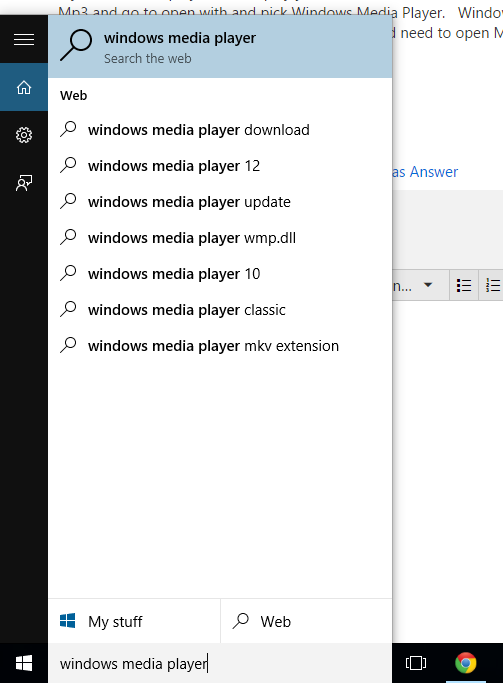 Media Player is missing in Windows 10  - Microsoft Community