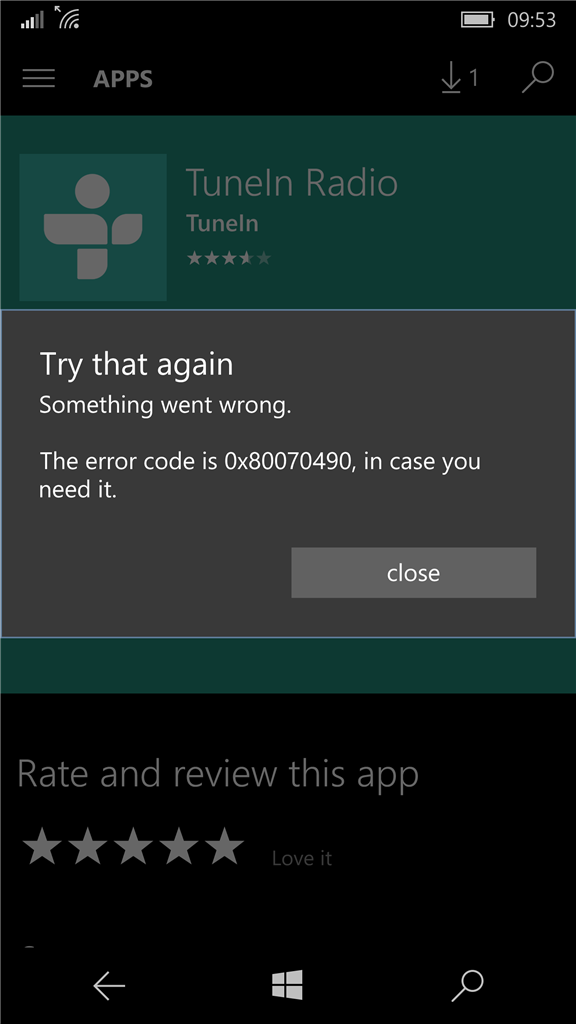 what to do when eror 0x80070490 is on windows 10 phone