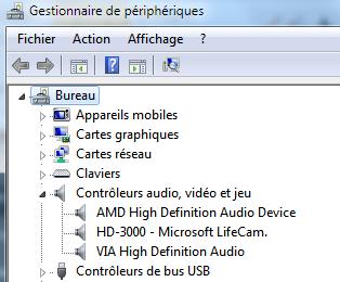 mon ordinateur ne reconnait pas mes écouteurs