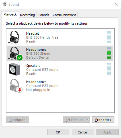 Bluetooth Headset Cannot Be Used As Both Headphones And Speakers Microsoft Community