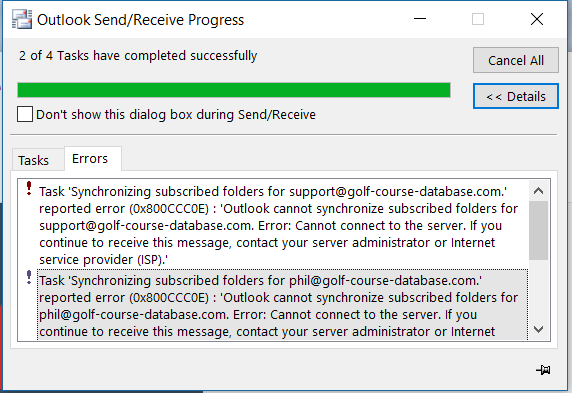 Outlook stopped receiving emails all of a sudden but can still send