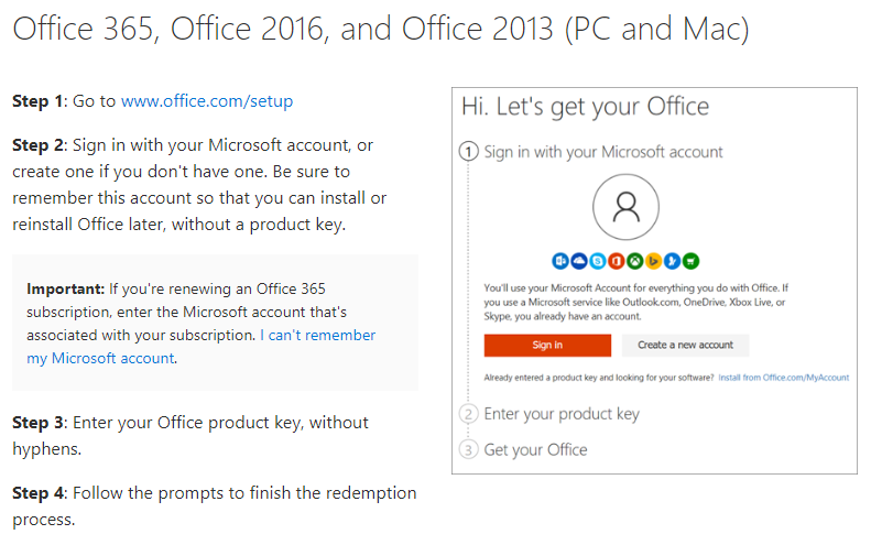 Microsoft office 2016 activation and login - Microsoft Community