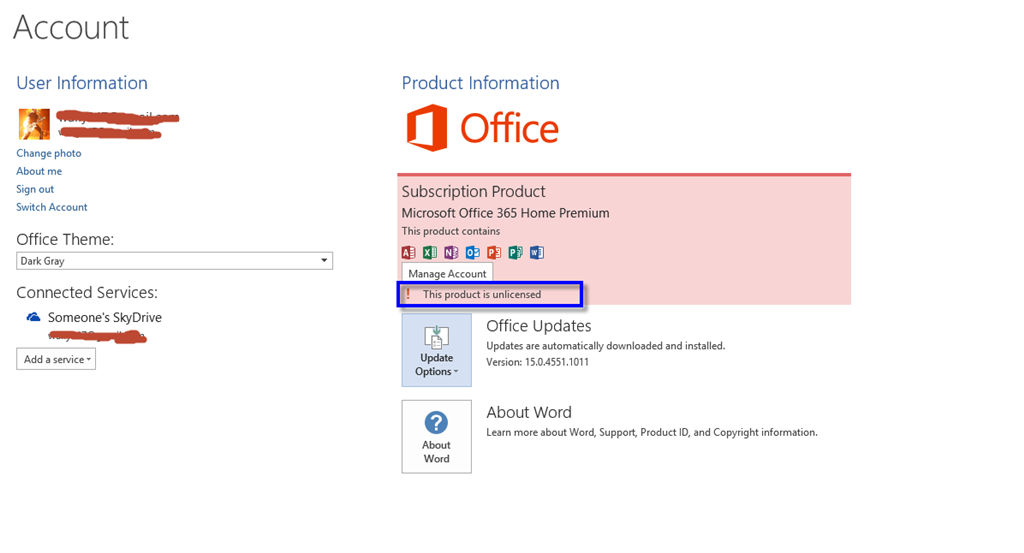 this modification is not allowed because the selection is locked outlook