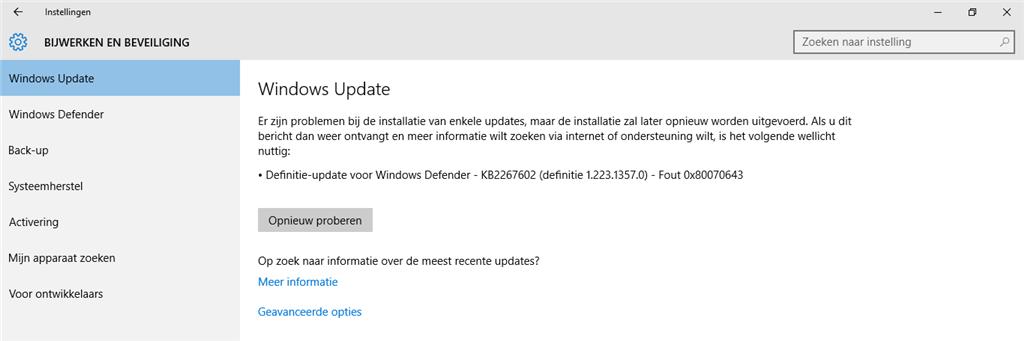 Definitie Update Voor Windows Defender Kb2267602