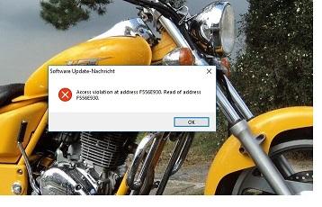 Access violation at Address F556E930, Read of address