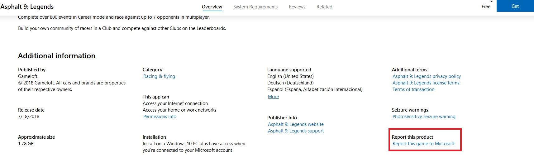 Asphalt 9 is deleted because Kaspersky Internet Security