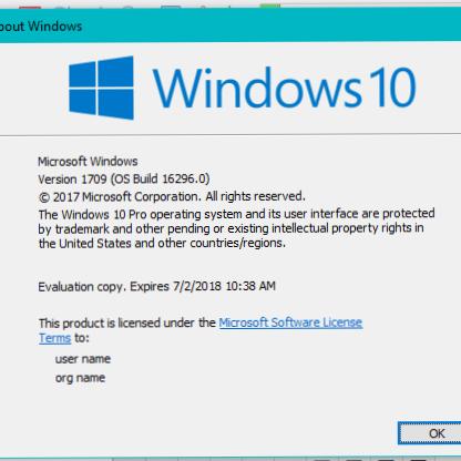 windows 10 enterprise 1709 key