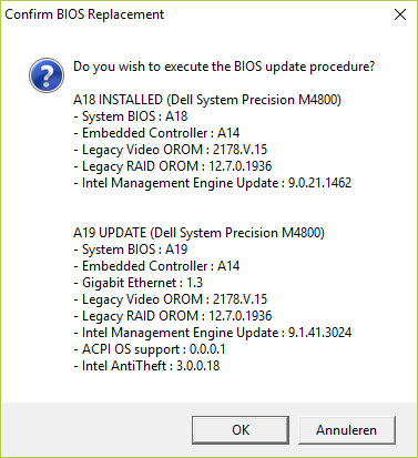 Dell Precision Firmware Update