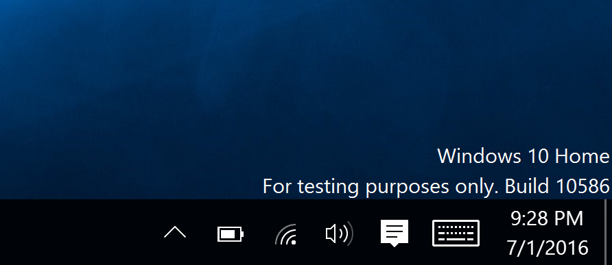 Windows testing watermark will not remove with cmd