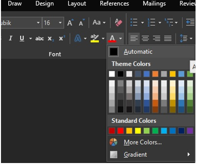 Customize Color Palette In O365 Word Excel And Other Apps Microsoft Community Find a new color scheme from words. customize color palette in o365 word
