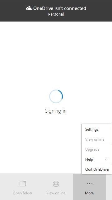 Problems with OneDrive Personal Signing in / Processing Changes