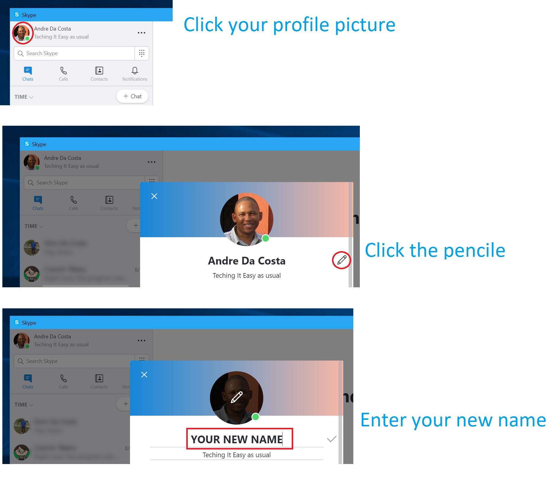 🐈 Can i change my skype id | How to Change Display Name on