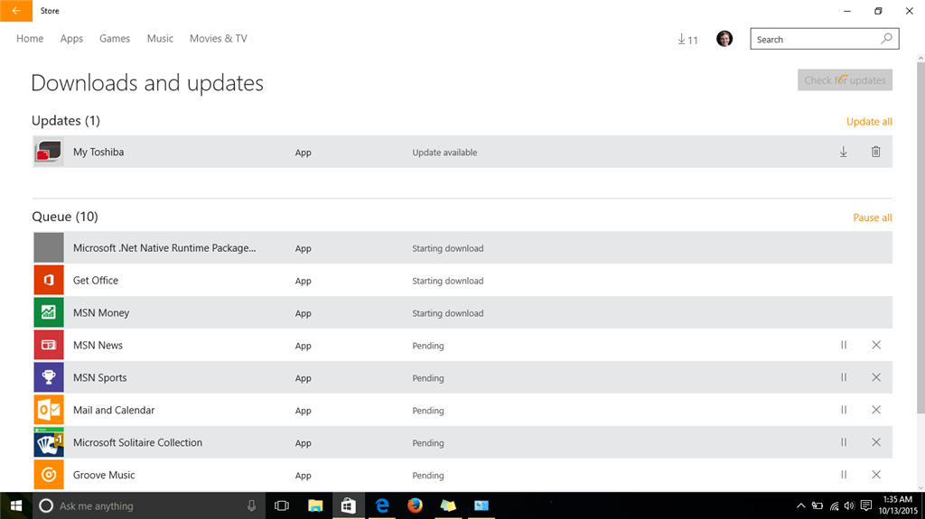 Apps not downloading from W10 Store - Microsoft Community
