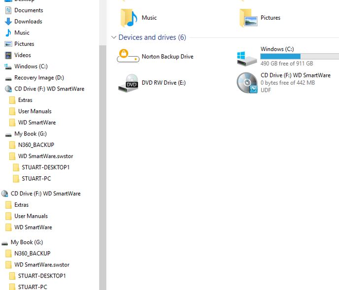 File Explorer for Windows 10 shows Duplicate External Drive