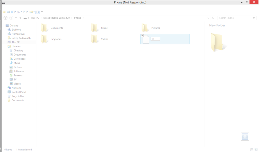 Windows 8/8 1 Explorer hangs when renaming a file through
