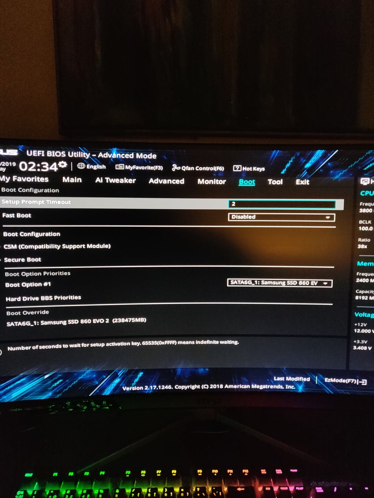 Can't install windows 10 on my SSD samsung evo 860 - 250GB