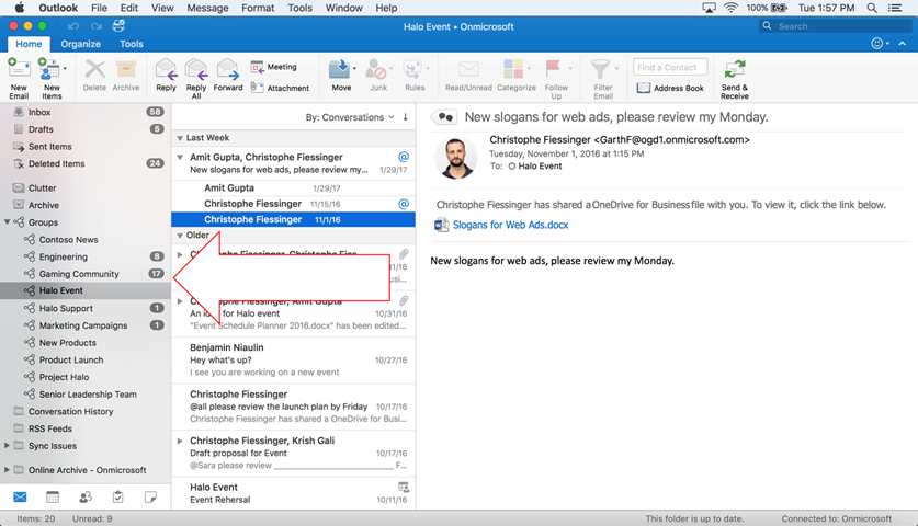 office 365 groups is now available in outlook for mac microsoft
