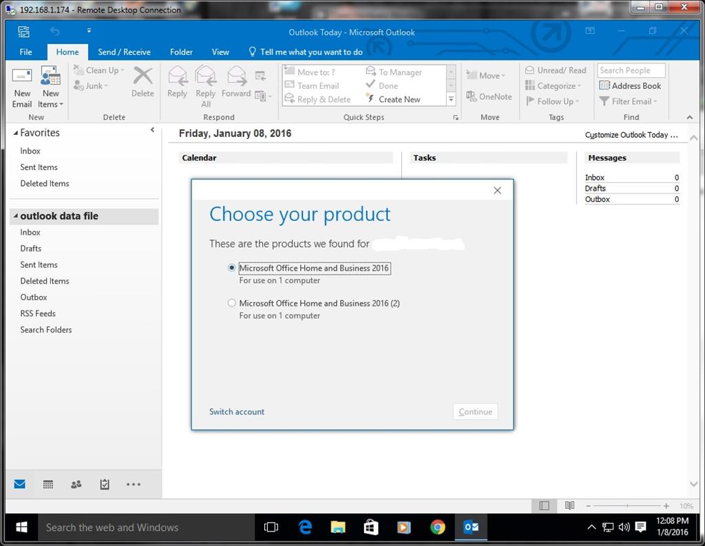 Activate Office Home and Business 2016 on Windows 10 problem ...