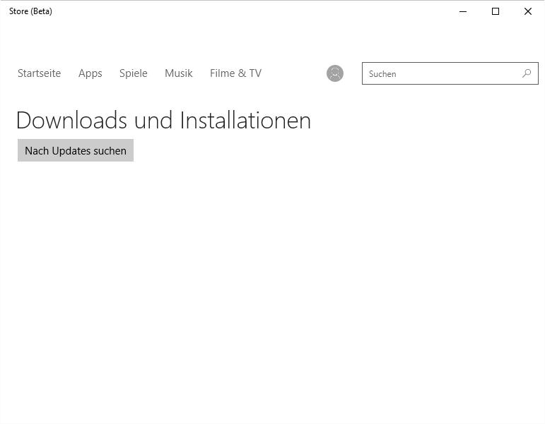 Die Kontakte App stürzt in der Build 10061 ab