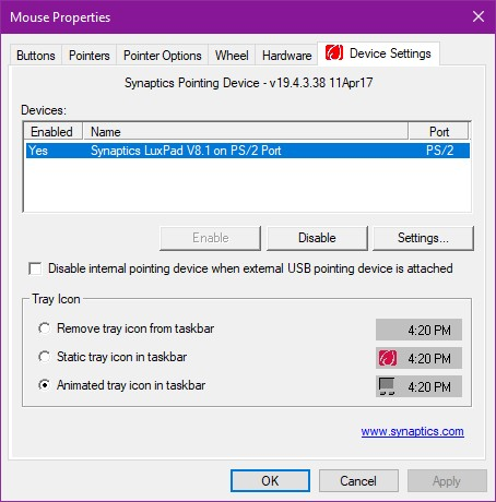Windows 10 update messed up with Touchpad Synaptics LuxPad V8 1
