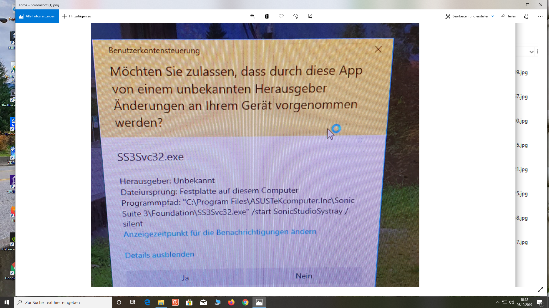 SS3Svc32.exe Was soll das sein?Siehe Anhang