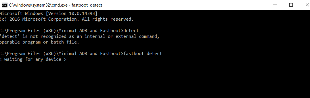 development board not detected with fastboot under Windows