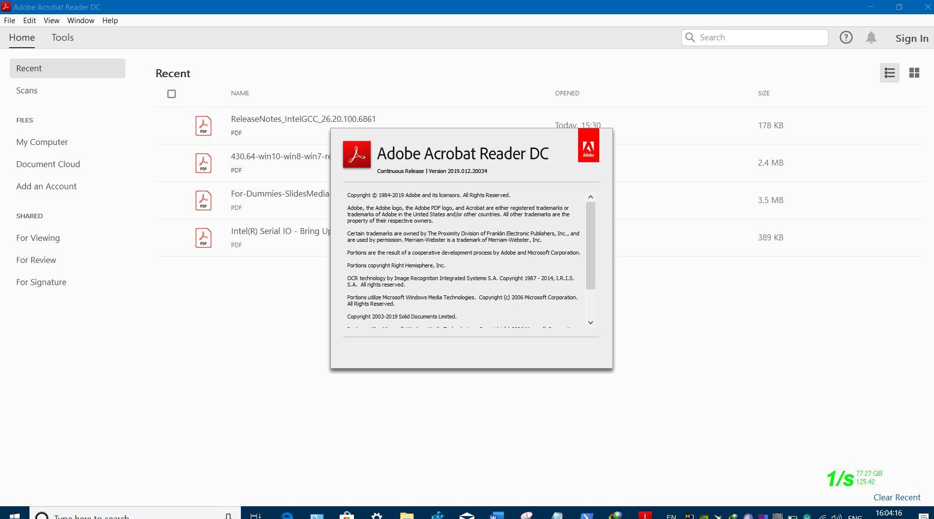 ADOBE RELEASED ACROBAT DC READER v1901220034 FOR WINDOWS CLIENT OS