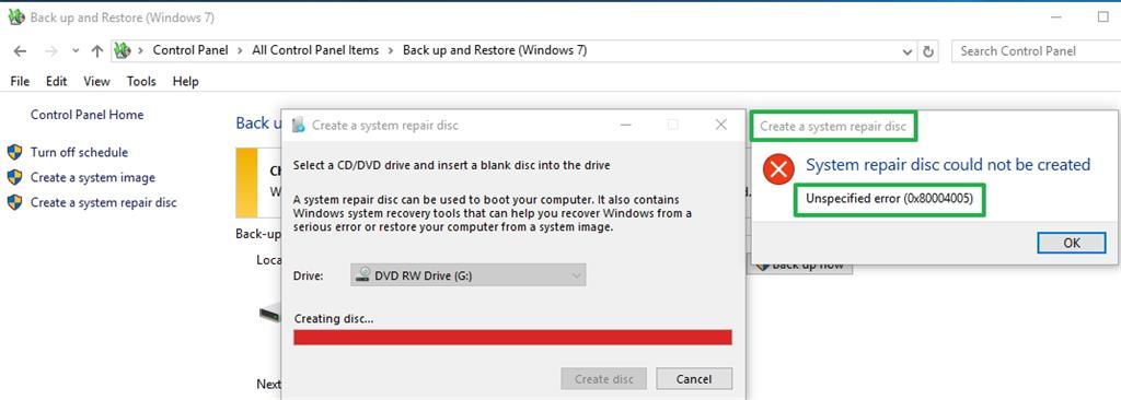 create boot repair disk windows 10