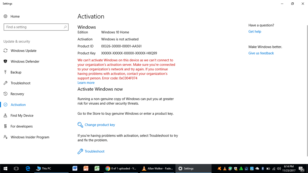 WHY WINDOWS IS NOT ACTIVATED?!