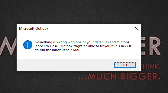 Outlook Profile error