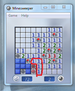 Found Error on Minesweeper, the game cheats - Microsoft