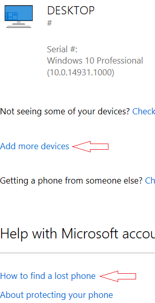"1 Microsoft Hella O: Can't Use ""Find My Device"""