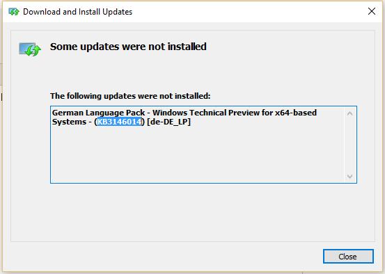 windows 10 sprachpaket lässt sich nicht
