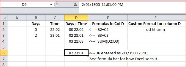Adding days hours minutes in Excel - Microsoft Community